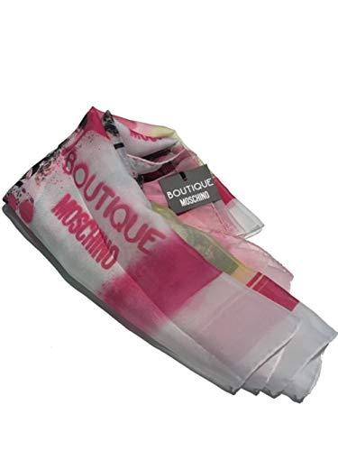 Moschino Boutique Tuch, Weiß/gemustert