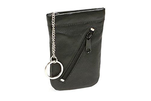 LEAS Schnappschlüsseltasche Schlüsselglocke Echt-Leder, schwarz Special Edition