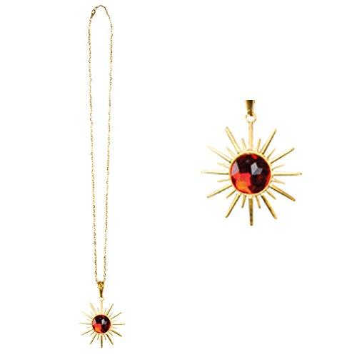 Boland- Collana con Medaglione Talismano a Stella Ruby Star per Adulti, Rosso/Oro, Taglia Unica, 74566