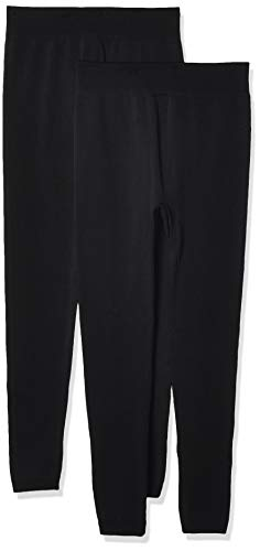 K. Bell Women's Fleece Lined Leggings, Black, Small/Medium