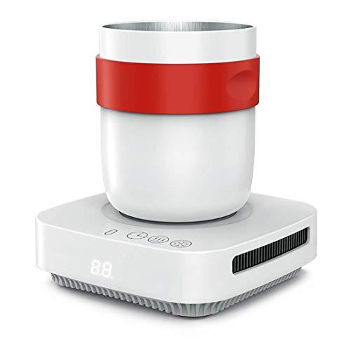 Enfriador de botellas electrónico Portátil Mini Refrigeración Enfriador rápido de tazas, Refrigerador de escritorio de enfriamiento rápido Posavasos de temperatura constante Enfriador de bebidas de u