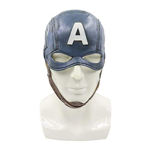 FUGUI Casco Capitan America PU Maschera Guerra Civile Cosplay (Casco Capitano)