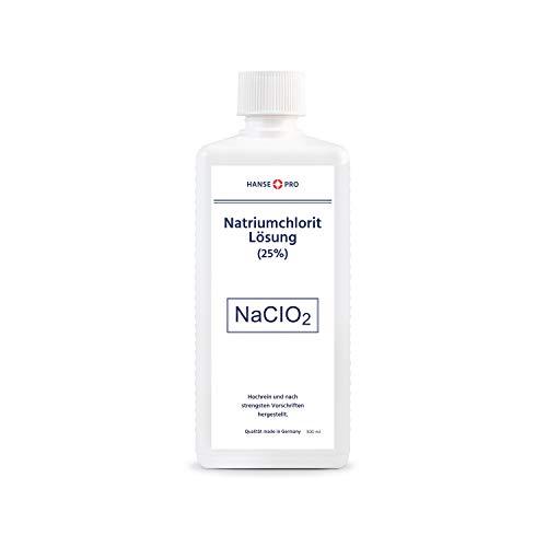 Hansepro Natriumchlorit Lösung (25%), 1 x 500 ml, nach Original-Rezeptur, deutsches Qualitätsprodukt