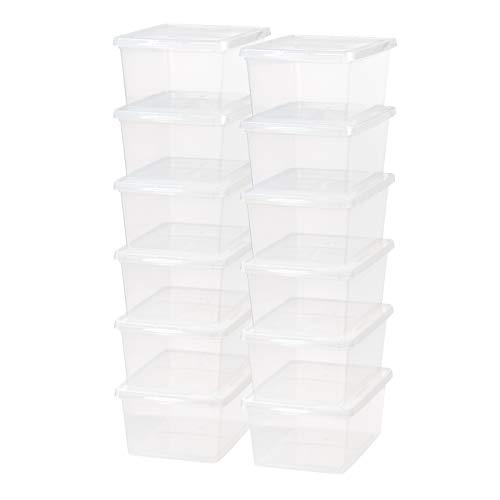 IRIS USA CNL-17 17 Quart Clear Storage Box 12 Pack