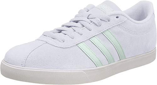 adidas Courtset, Zapatillas de Tenis Mujer, Dash Grey/Green Tint/Cloud White, 40 2/3 EU