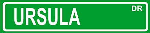 """Ursula Green Aluminum Street Sign 4""""x18"""" Great Décor for Any Room Girls Name"""