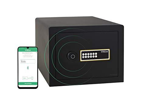 Arregui AWA 220740 - Caja Fuerte Inteligente de Mesa, Smart Safe, Apertura con código electrónico, gestión Mediante aplicación móvil, Compatible con Amazon Alexa, 27 x 38,5 x 32,5 cm, 23 litros