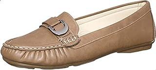 حذاء لوفرز جلد صناعي بإبزيم حلية للنساء من كلوب الدو