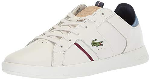 Lacoste Men's Novas Sneaker, Off White/Natural, 8.5 Medium US