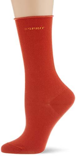 ESPRIT Damen Basic PURE 2-Pack Socken, orange (tangerine 8792), 35-38 (2er Pack)