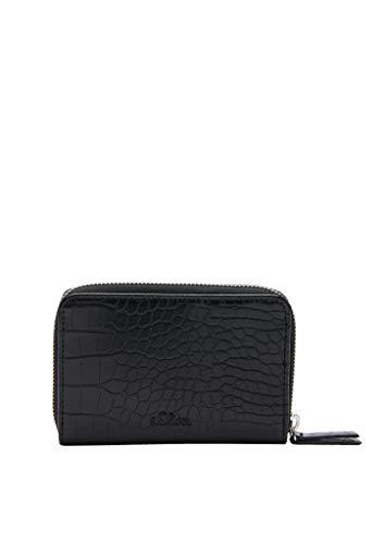 s.Oliver (Bags) Damen Portemonnaie Reisezubehör-Brieftasche, 9999 Black, 1