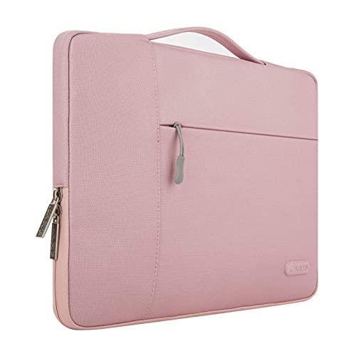 MOSISO Tablet Sleeve Hülle Kompatibel mit 2021-2018 iPad Pro 11 M1,2020 10.9 iPad Air 4,10.2 iPad 2020 2019,10.5 iPad Air 3,10.5 iPad Pro,9.7 iPad,Polyester Multifunktion Aktentasche Handtasche, Rosa