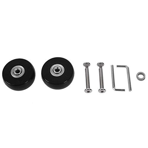 Gesh 2 juegos de ruedas de repuesto para maletas de equipaje, herramientas de reparación de lujo, 50 x 20 x 6,1 mm