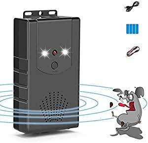 Coquimbo Repelente de Roedores Ultrasónico Ahuyentador de Ratones con luz LED y función de flash para ratas, ratones, martas, Insectos, Roedores (1 Piezas)