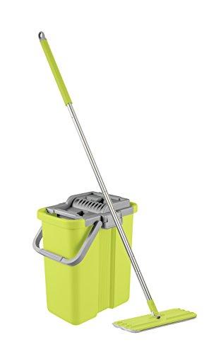 Profi Bodenwischer Set mit Eimer & Mopp | Sauber Meister Wischmopp Smart Mop+ | Fortschrittlicher Bodenreiniger mit Clean & Dry-Technologie