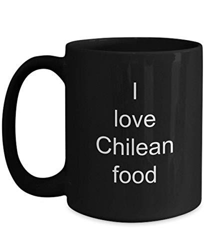 N\A Amo la Comida chilena Taza de Regalo Familiar Taza de Amante de la Comida Mejor Regalo Taza de Navidad Chile