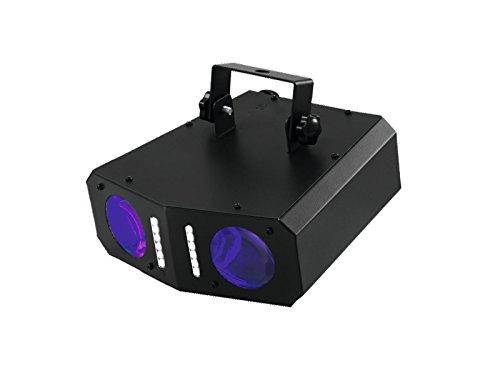 Eurolite LED DMF-2 Hybrid Flowereffekt | Lichteffekt mit doppel Matrix-Projektion | Effektstrahler mit Stroboskopeffekt | Musiksteuerung über eingebautes Mikrofon