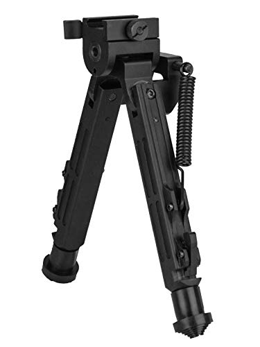 "SCOUT-POD Lion Gears Tactical Pro Bipod with Innovative Design, 7.3"" to 10"" Heigth Adjustable, Adjustable Double Swivel, Side to Side Pivoting and Swivel and QD Mounting Deck"