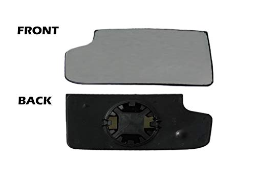 Fits (2015-2019) - Chevy Silverado GMC Sierra Tow Mirror Lower Glass Driver Side Left (LH) for GM Pickup Truck (Glass With Backing)
