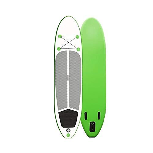 NgMik Tabla De Surf Inflable Adulto Unisex Stand Up Paddle Board Sup 10.6 Pies Tres Colores Opcionales Estable (Color : Green, Size : 320x76x15cm)