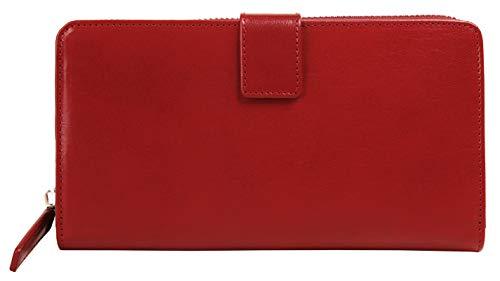 Bagan Geldbörse Echt Leder rot Damen - 020452