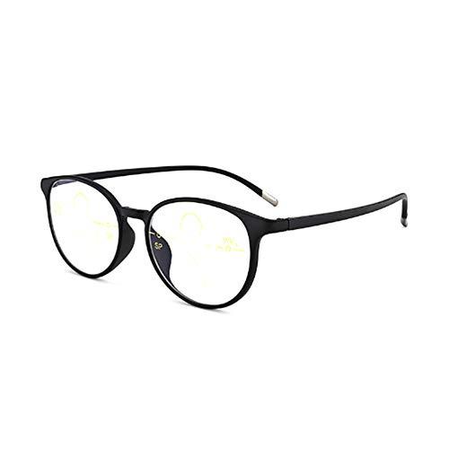 Blaulichtblockierende Lesebrille, Retrobrille TR 90 für Junge Leser, Progressive Multifokalbrille, ultraleichte, Bequeme Brille, Anti-Müdigkeit, mehrere Farben