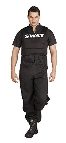 Boland – Agent Spécial SWAT Costume pour adultes, noir, L (54/56), 83642