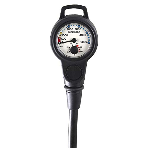 Sherwood Scuba Pressure Gauge with Boot and Hose
