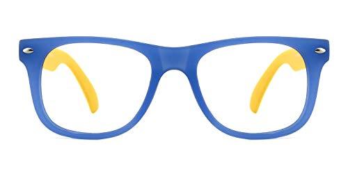TIJN TIJN Brillen Brillengestell für Kinder Korrekturbrillen Klare Linse für Jungen und Mädchen von 6-12 Jahren