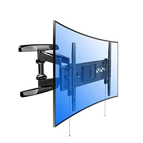 TabloKanvas Soporte para TV Soporte para Montaje en Pared para TV Rotación de Plano y Arco Dinámico Completo Ultra HD Adecuado para la Mayoría de Los Monitores LCD