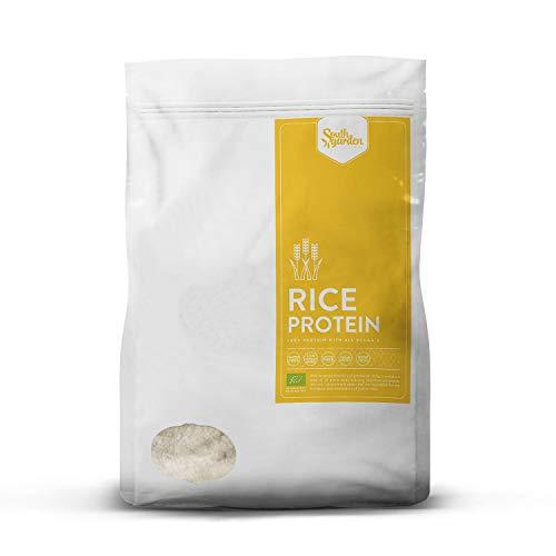 Poudre Protéine de Riz BIO 1 Kg   SOUTH GARDEN   82% de protéines végétales   Teneur élevée en acides aminés ramifiés (BCCA) et en lysine   Légumes   Sans gluten   Sans lactose   Sans sucre ajouté