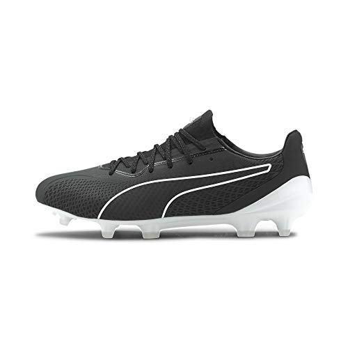 Puma King Platinum Lazertouch FG/AG, Bota de fútbol, Black