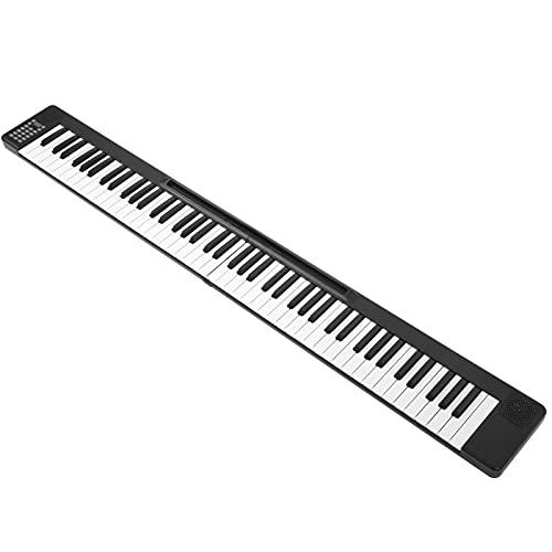 Piano Plegable 88 Teclas, Teclado Musical Electrónico 128 Tonos Inalámbrico Dual BT...
