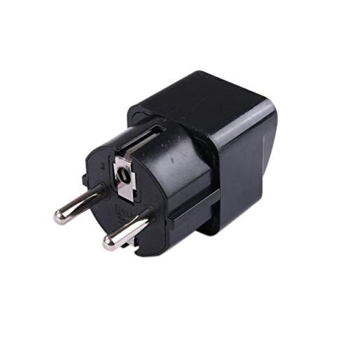 Kongqiabona-UK Universal UK US AU to EU AC Power Socket Plug Adaptador de Cargador de Viaje Convertidor de Cobre Puro Enchufe Adaptador estándar Europeo