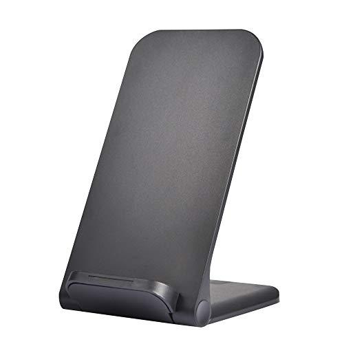 ZYD Telefonia Mobile Senza Fili Caricatori 15W Qi Caricatore Senza Fili Basamento per L'iphone di Samsung di Ricarica Rapida della Stazione del Bacino del Caricatore del Telefono,Nero
