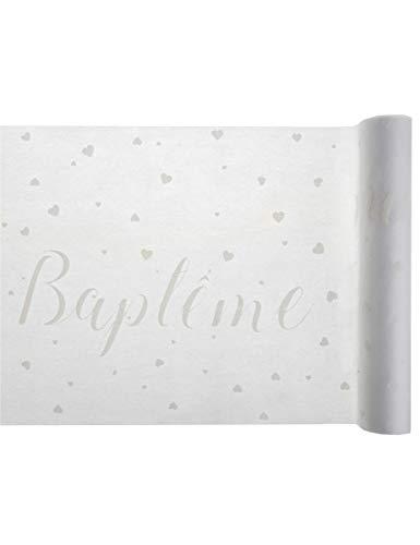 Chemin de table Baptême 30cm x 5m (x1) REF/5710