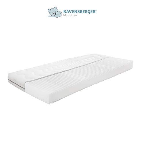 Ravensberger Matratzen® SOFTWELLE | 7-Zonen-HR-Kaltschaumkomfortmatratze| RG 30 Härtegrad H1/H2 (ab 15 kg) | Kinder- und Jugendmatratze | MADE IN GERMANY - 10 JAHRE GARANTIE | Atmungsaktiver PES-Bezug | in verschiedenen Größen (90 x 200 cm, Härtegrad H1/H2 (Ab 15 Kg))