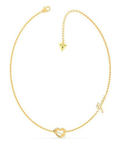 Guess Damen-Halskette Across My Heart, vergoldet, UBN79060