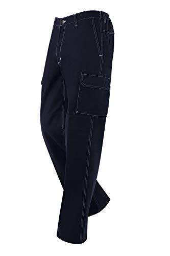 MONZA OBREROL Pantalón Largo De Trabajo Multibolsillos de Adulto. Color Azul Marino. Vaquero Tejano. Soldador/Seguridad. Talla 64-66. Ref: 1133