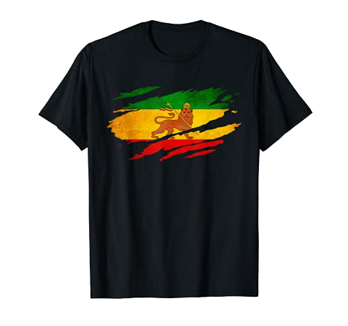Vintage Old Ethiopia Flag shirt Lion Judah Rasta Reggae