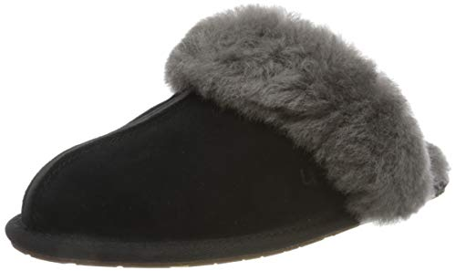 UGG Female Scuffette II Slipper, Black/Grey, 9 (UK)