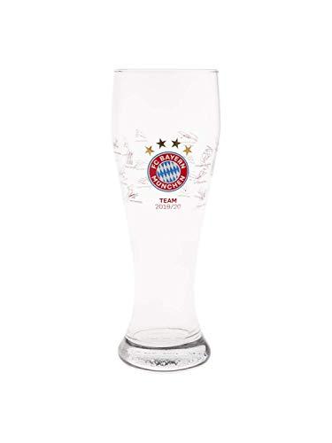 FC Bayern München Weißbierglas Signature Unterschriften Saison 2019/20