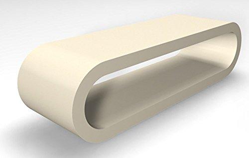 Zespoke Design Rétro de Cercle de Style Grande Largeur Café Crème Mat Tableau/Meuble TV 110cm