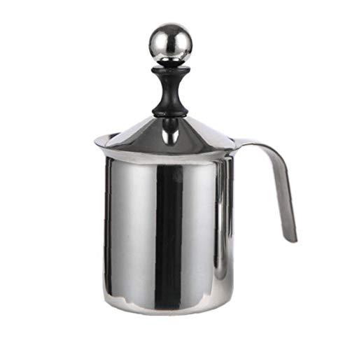 Sanfiyya Batidor de Leche de Acero Fabricante de Espuma de Plata Mannual Operado de Doble Capa de Acero de Navidad Bomba de Mano Herramienta para el café de la Cocina