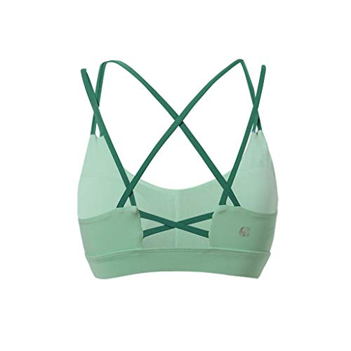 Mooi Sport Ondergoed vrouwen die Shockproof Gathering Stereotypes Yoga Beauty Back Vest Fitness Bra Bra Comfortabel (Color : Green, Size : S)