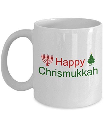 Lawenp Happy Chrismukkah Mug Funny Tea Hot Cocoa Coffee Cup Novelty Birthday Cup Gift
