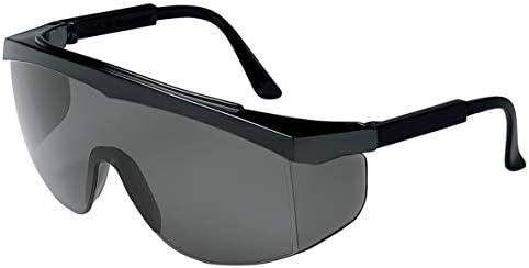 Protective Dark Safety Glasses with Tinted Anti fog Lenses Splash Windproof Dustproof Black product image
