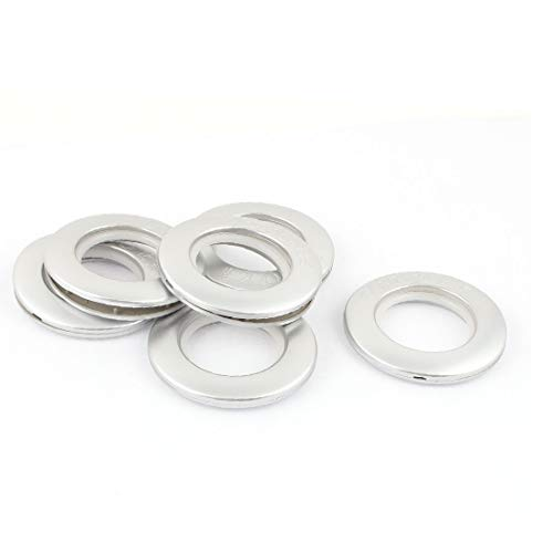 New Lon0167 6 Pcs Featured 40mm Inner Dia. Reliable Efficacy Silver Tone Round Plastic Rings for Eyelet Curtain Drapery(id:488 90 45 ff3)