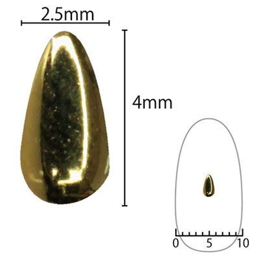 ガスマーキング瞑想的SHAREYDVA スタッズ ドロップ 4mm×2.5mm 30P ゴールド