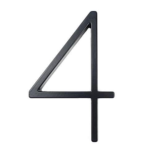 ADSIKOOJF 125mm Drijvend Huis Aantal Letters Grote Moderne Deur Alfabet Thuis Outdoor 5 in.Black Numbers Adres Plaque Dash Slash Sign #0-9